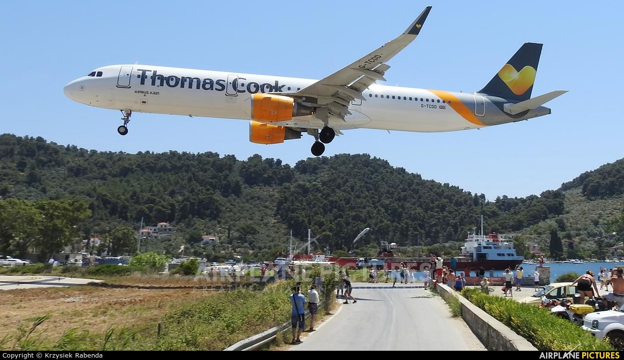 Thomas Cook G-TCDD aircraft at Skiathos