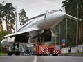 Transportation of Tu144 for exhibition