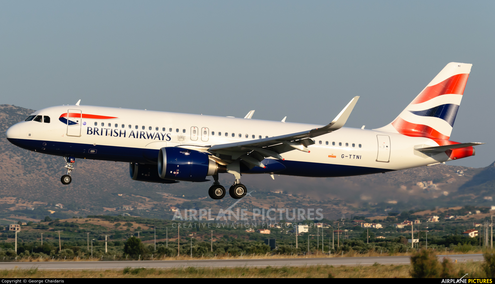British Airways G-TTNI aircraft at Athens - Eleftherios Venizelos
