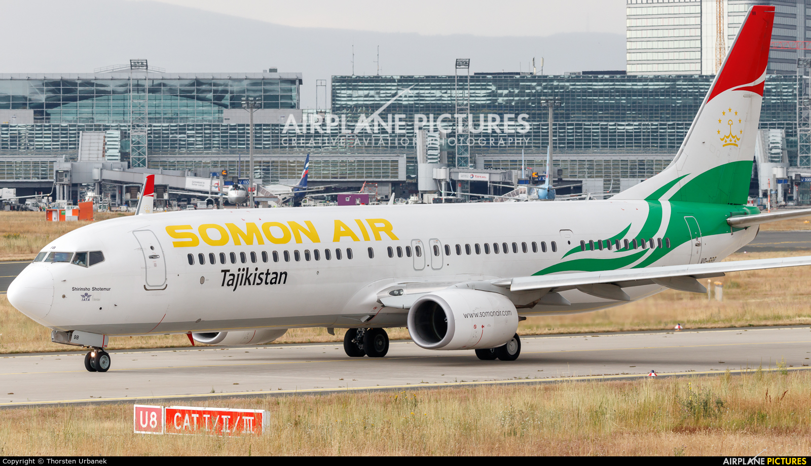 Somon Air VQ-BBB aircraft at Frankfurt