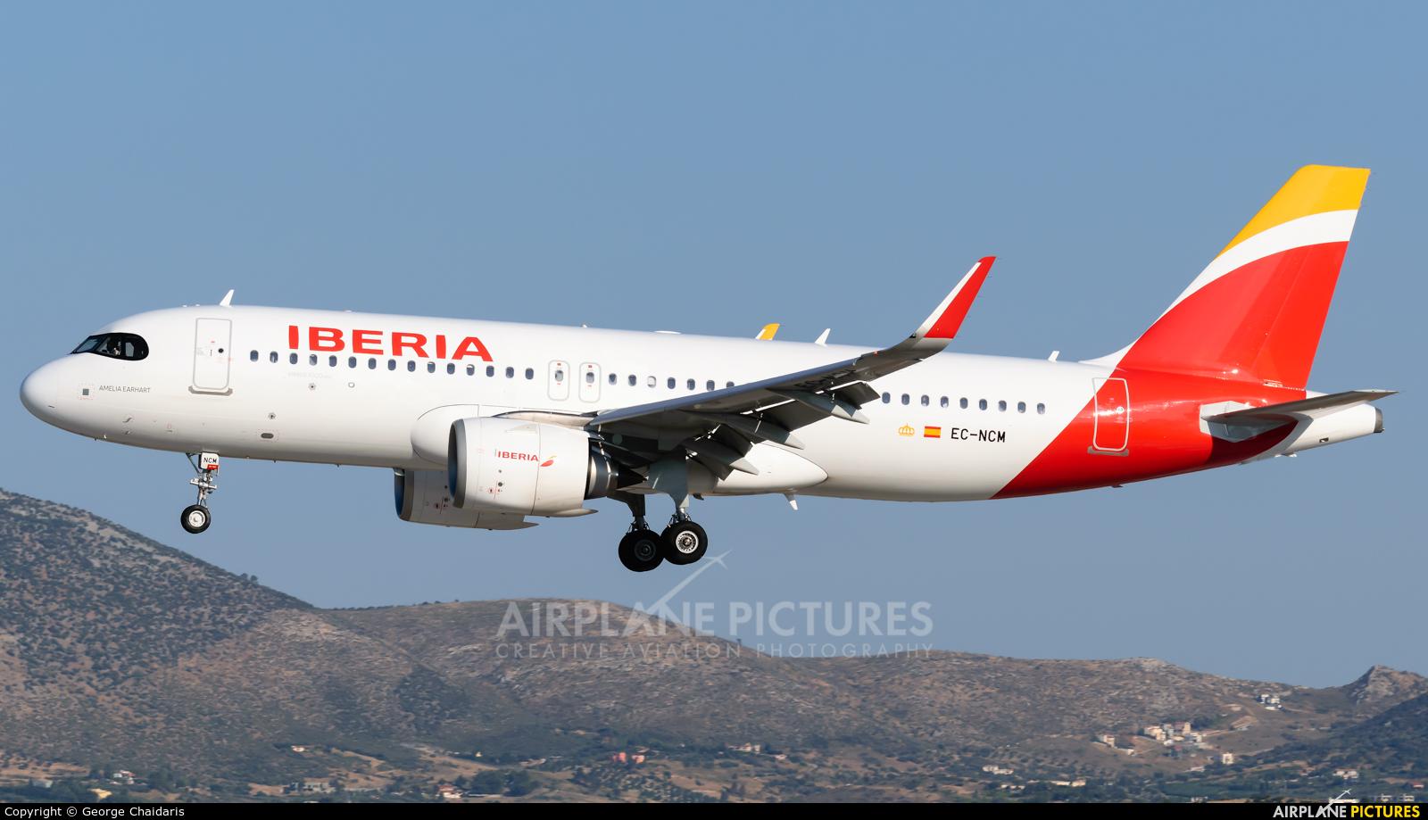 Iberia EC-NCM aircraft at Athens - Eleftherios Venizelos