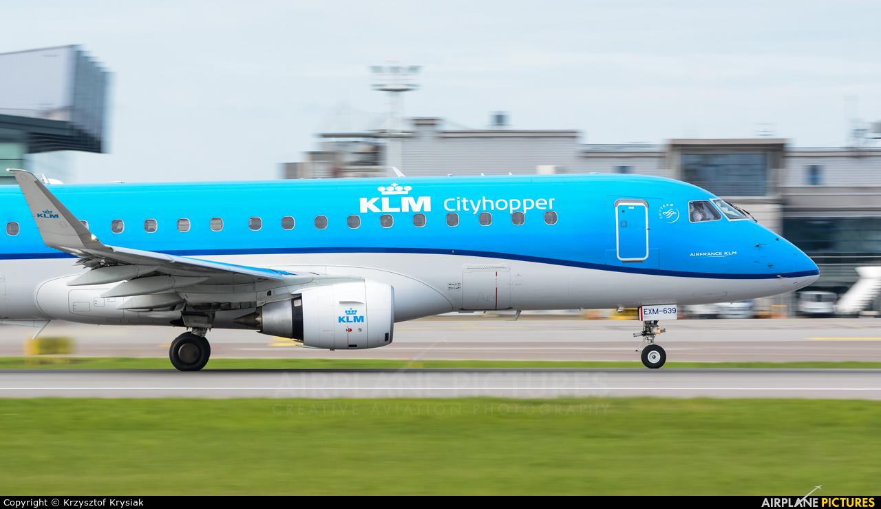 KLM Cityhopper PH-EXM aircraft at Gdańsk - Lech Wałęsa