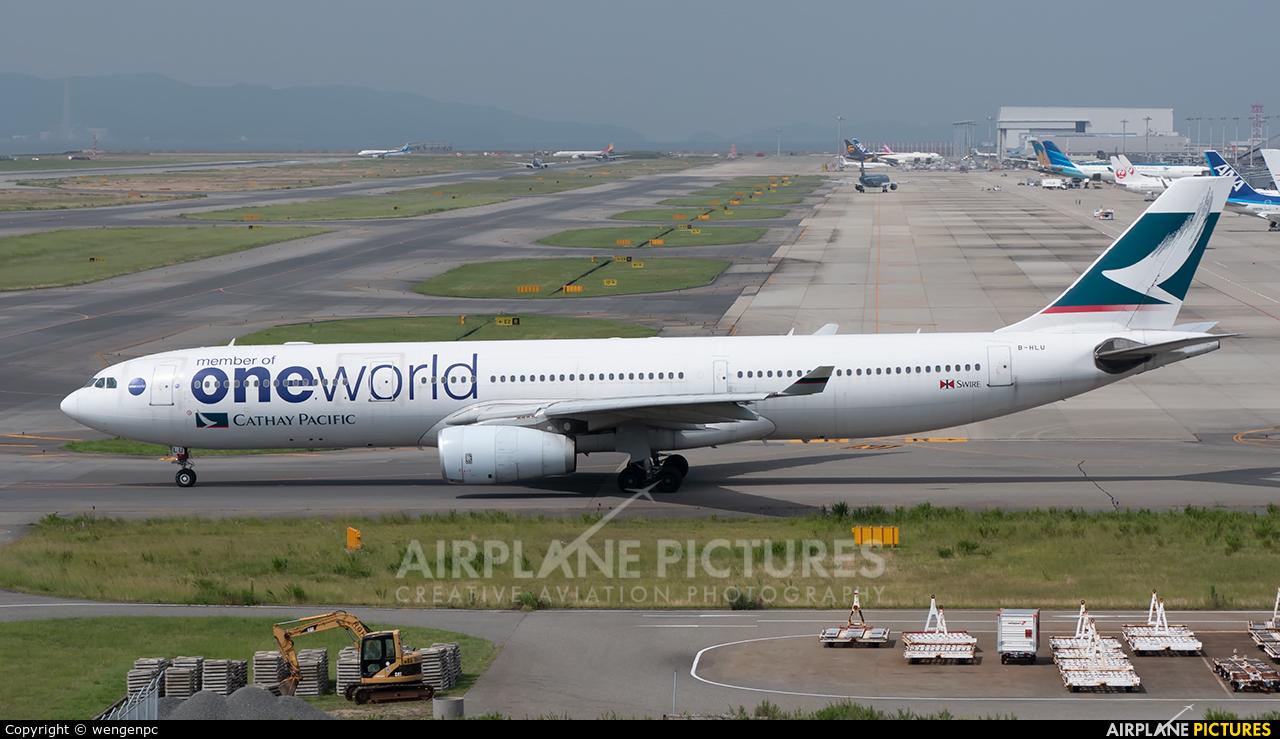 Cathay Pacific B-HLU aircraft at Kansai Intl