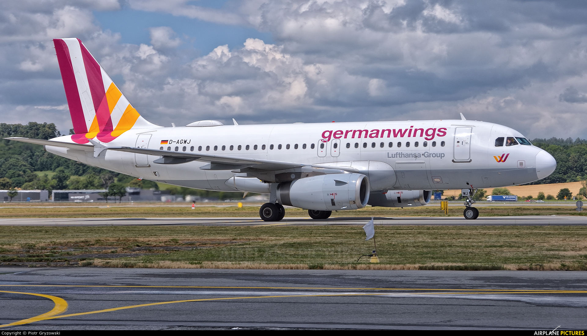 Germanwings D-AGWJ aircraft at Kraków - John Paul II Intl