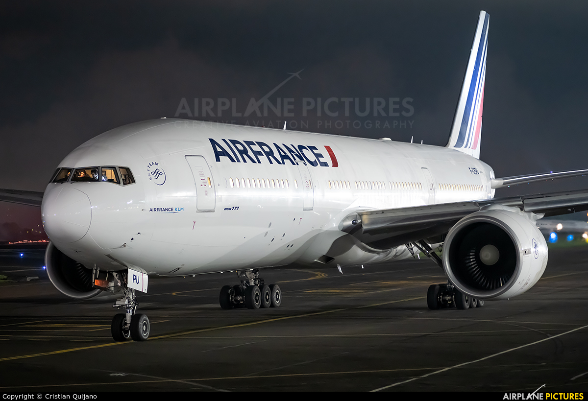 Air France F-GSPU aircraft at San Jose - Juan Santamaría Intl