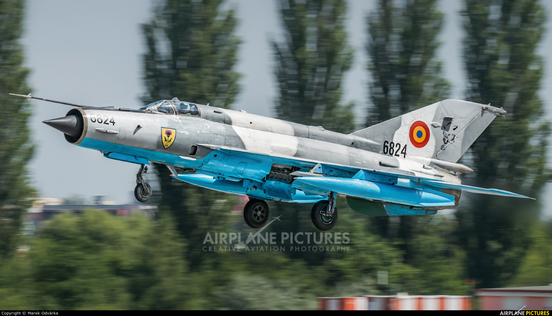 Romania - Air Force 6824 aircraft at Pardubice