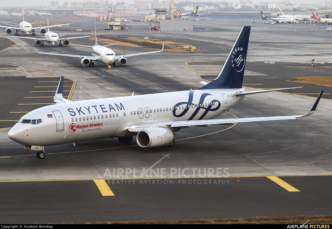 Kenya Airways 5Y-CYE aircraft at Mumbai - Chhatrapati Shivaji Intl