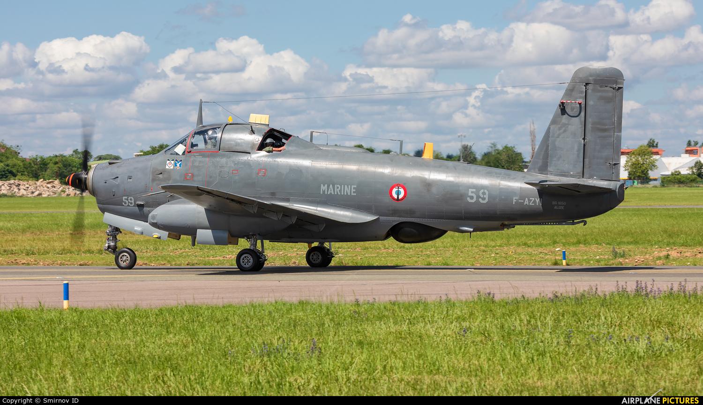 France - Navy F-AZYI aircraft at Paris - Le Bourget
