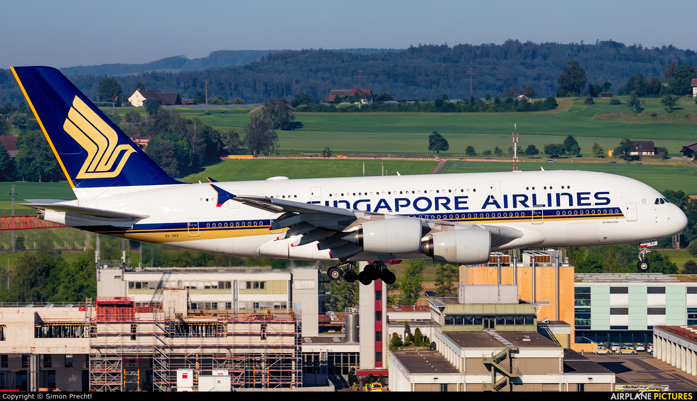 Singapore Airlines 9V-SKZ aircraft at Zurich