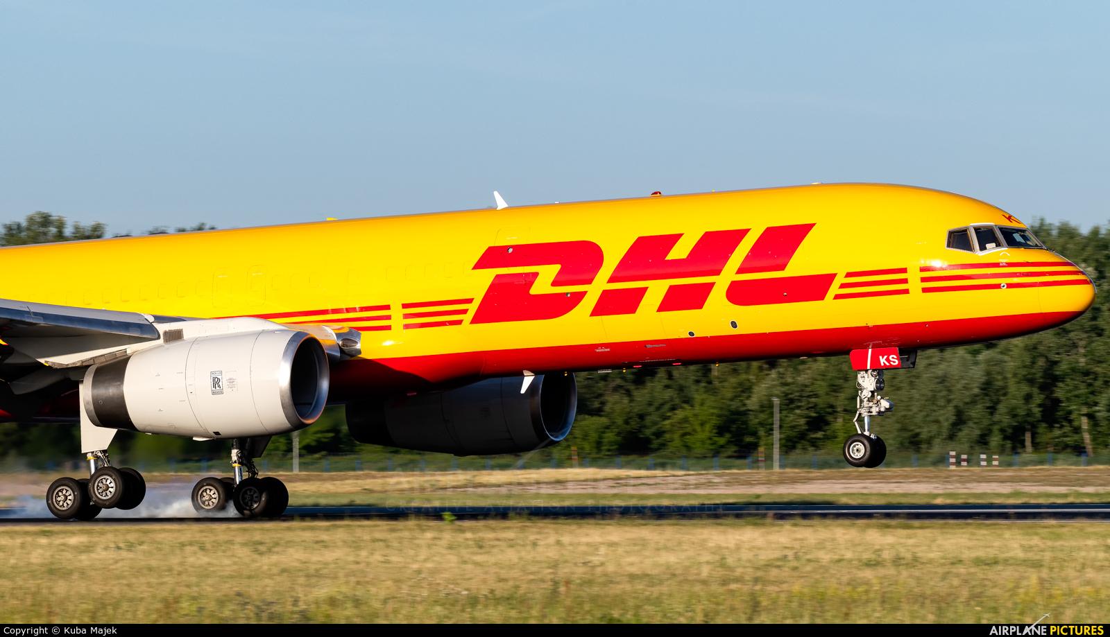 DHL Cargo G-DHKS aircraft at Warsaw - Frederic Chopin