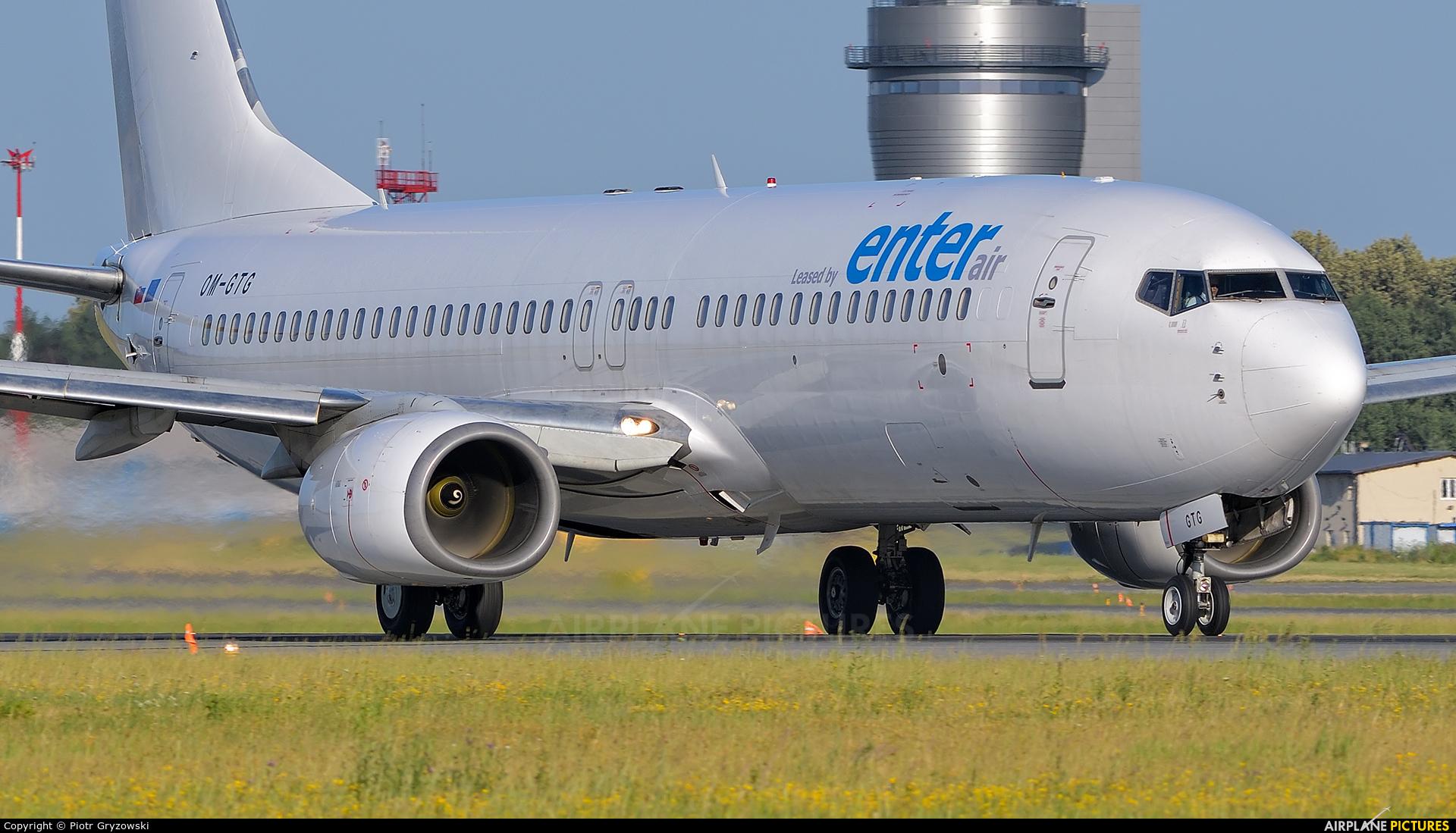 Enter Air OM-GTG aircraft at Katowice - Pyrzowice