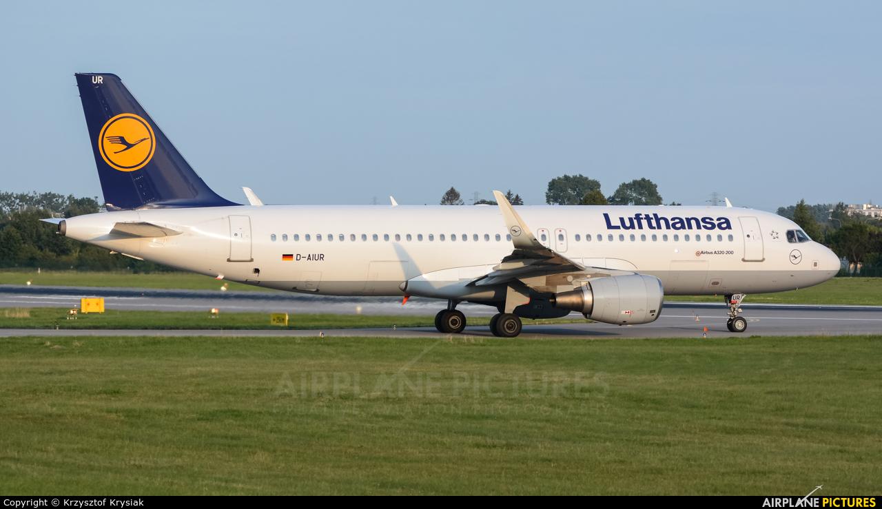 Lufthansa D-AIUR aircraft at Gdańsk - Lech Wałęsa