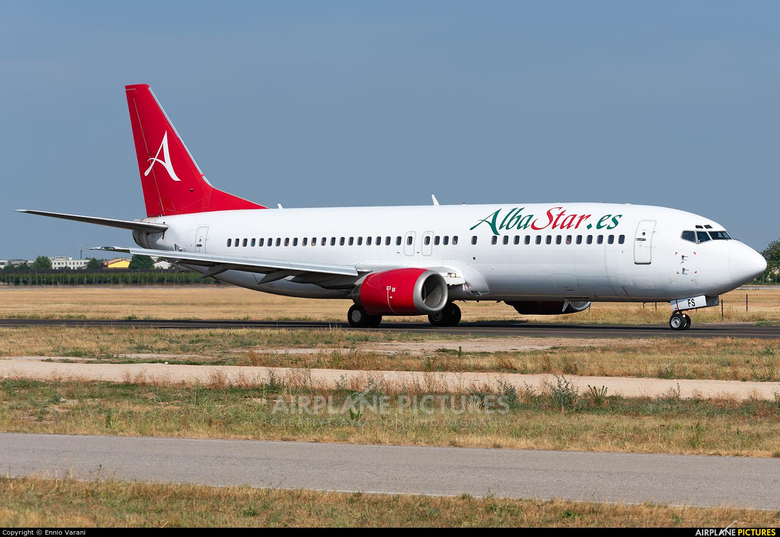 AlbaStar EC-MFS aircraft at Verona - Villafranca