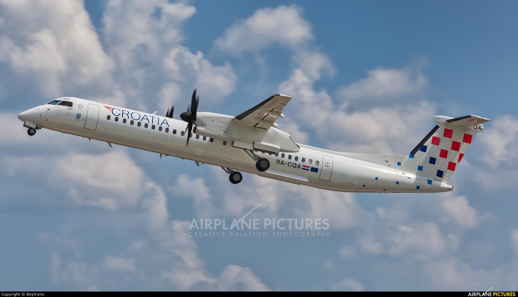 Croatia Airlines 9A-CQA aircraft at Zagreb
