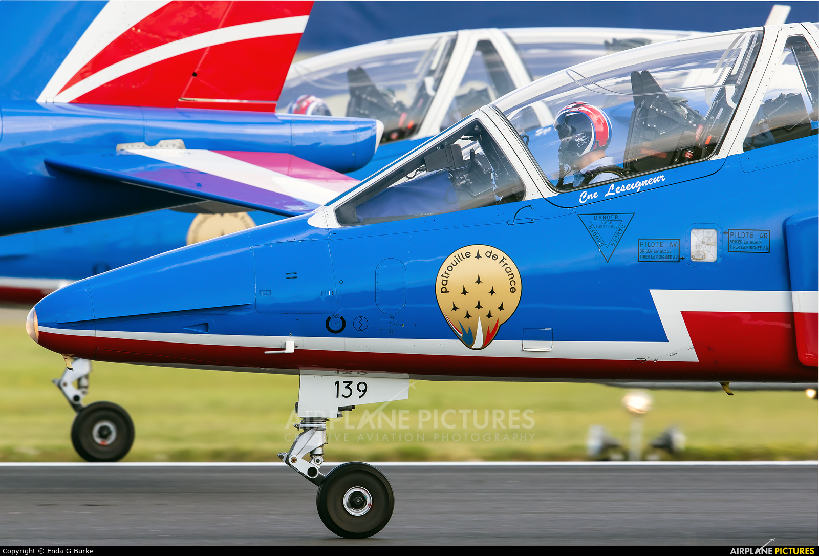 "France - Air Force ""Patrouille de France"" E-139 aircraft at Fairford"