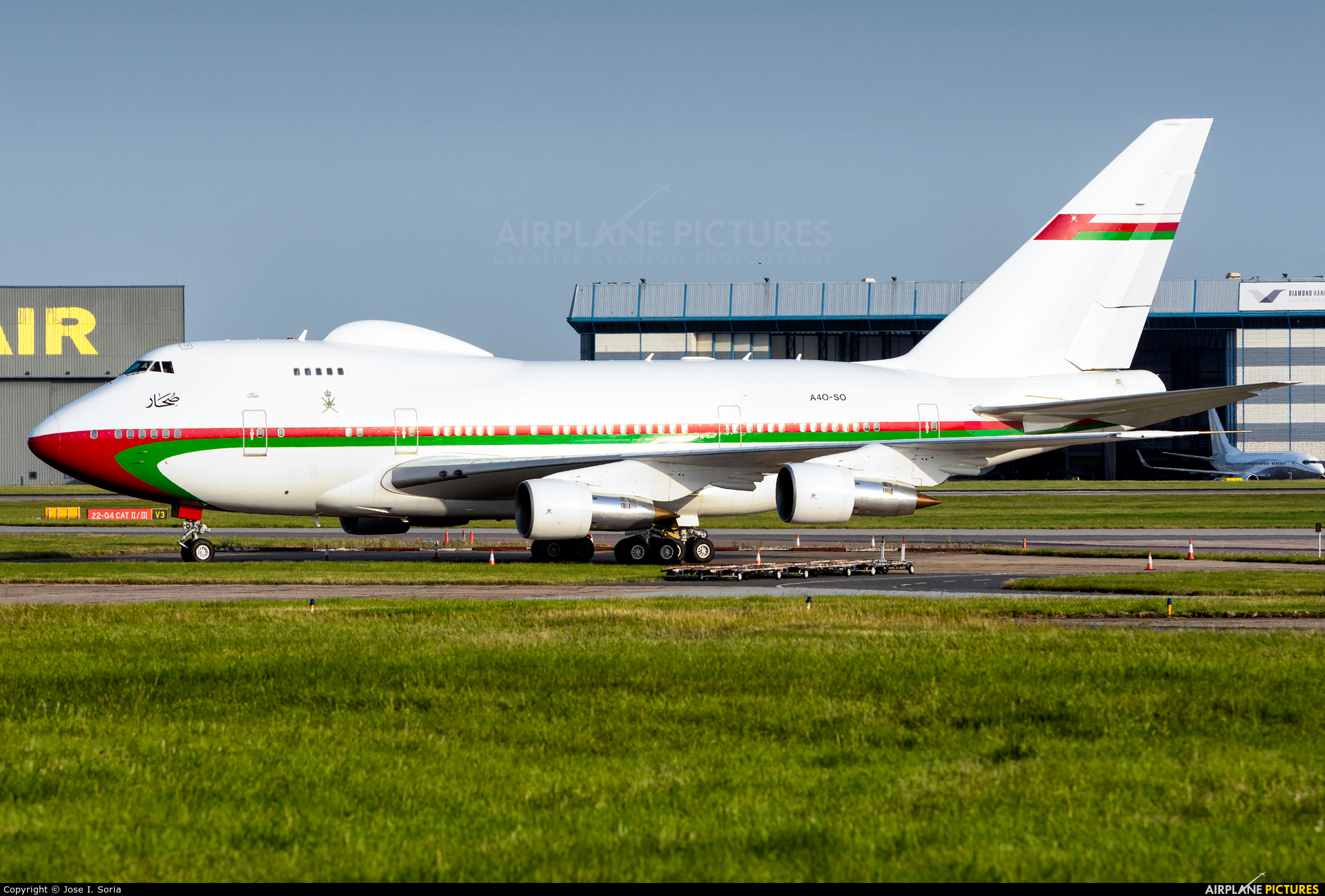 Oman - Royal Flight A4O-SO aircraft at London - Stansted