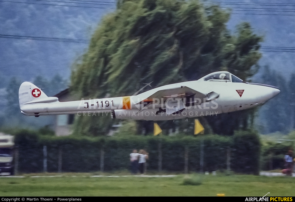 Switzerland - Air Force J-1191 aircraft at Sion