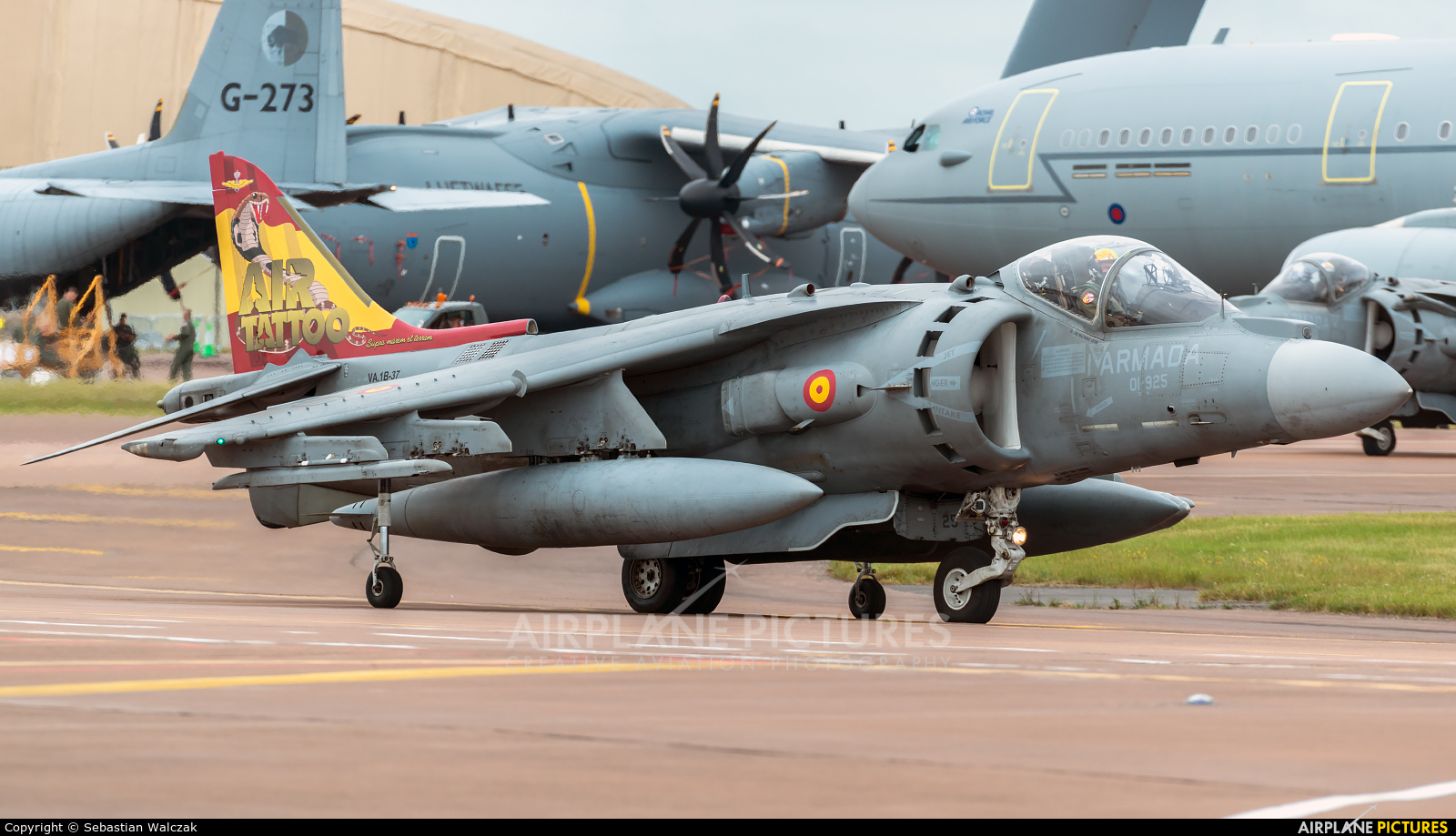 Spain - Navy VA.1B-37 aircraft at Fairford