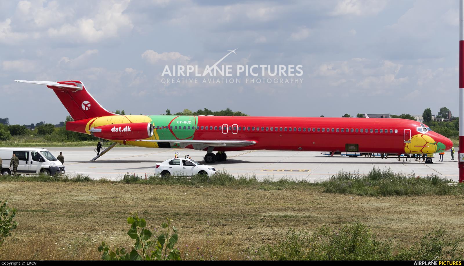 Danish Air Transport OY-RUE aircraft at Craiova