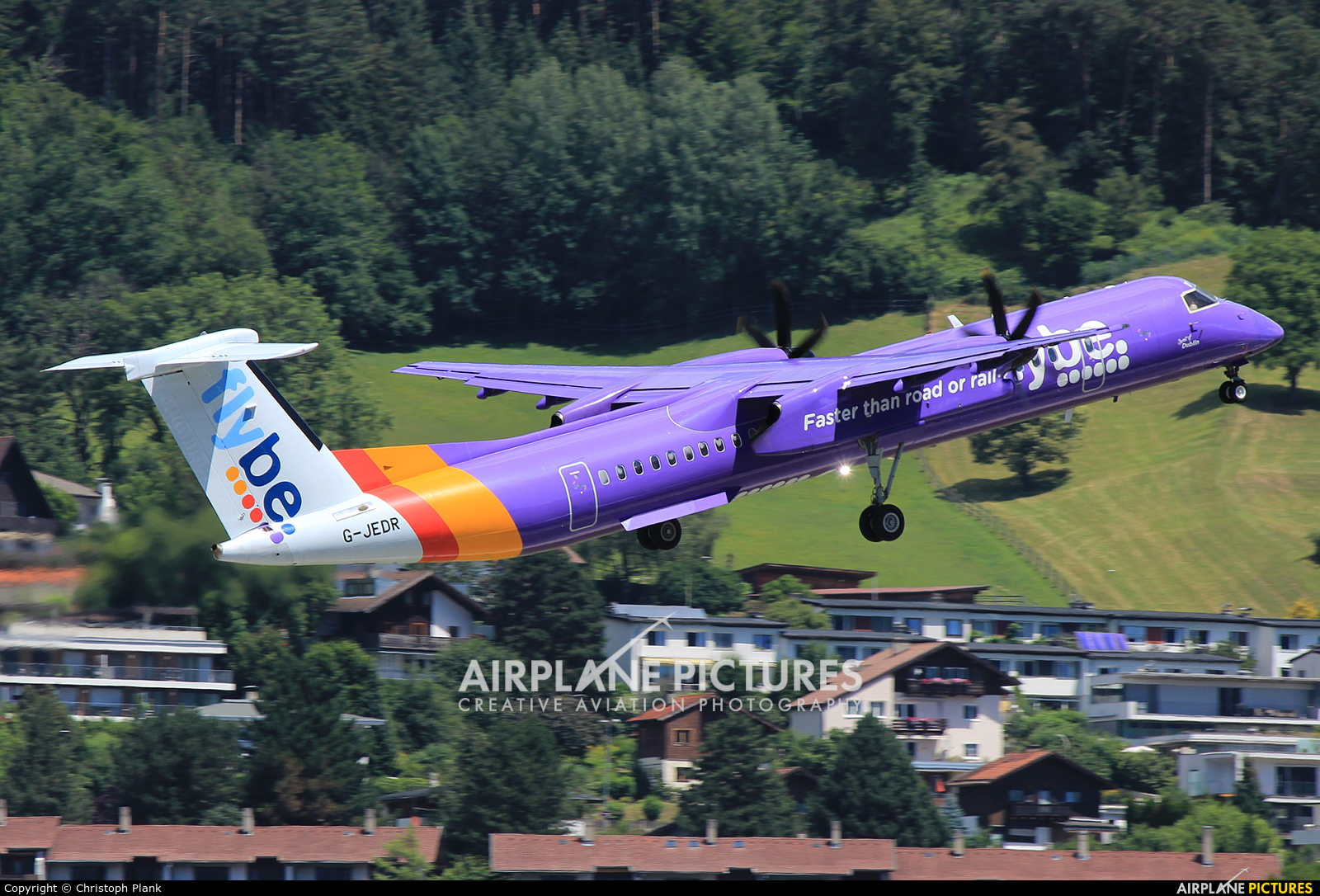 Flybe G-JEDR aircraft at Innsbruck