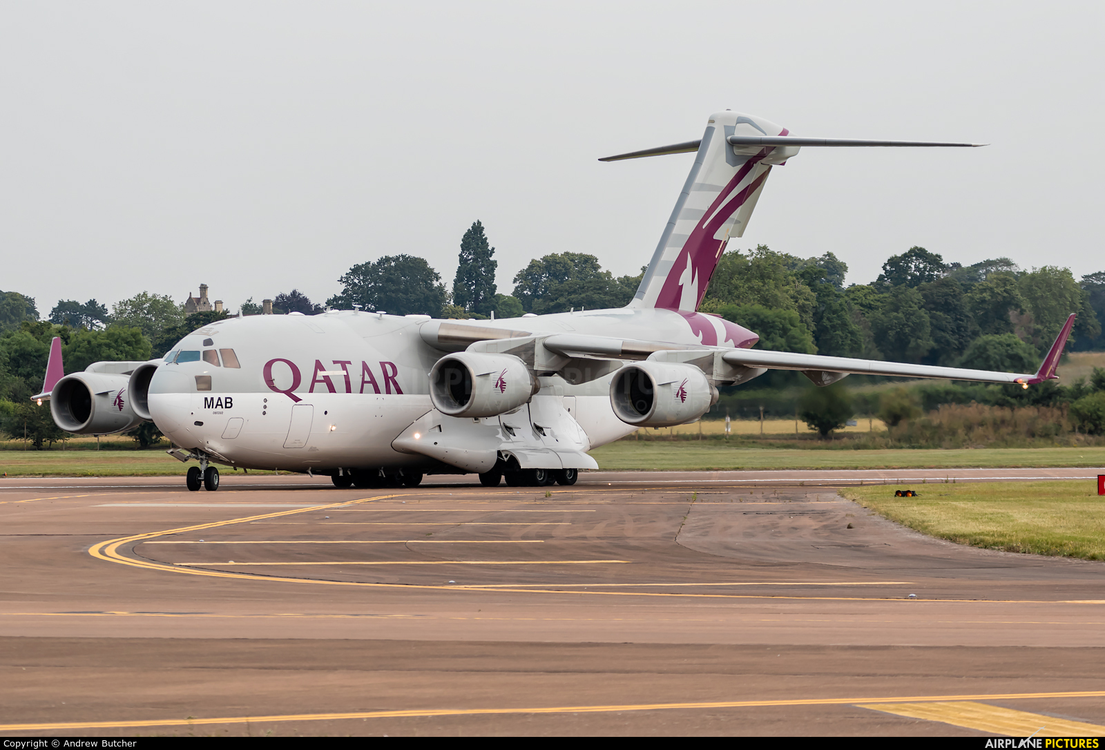 Qatar Amiri Flight A7-MAB aircraft at Fairford