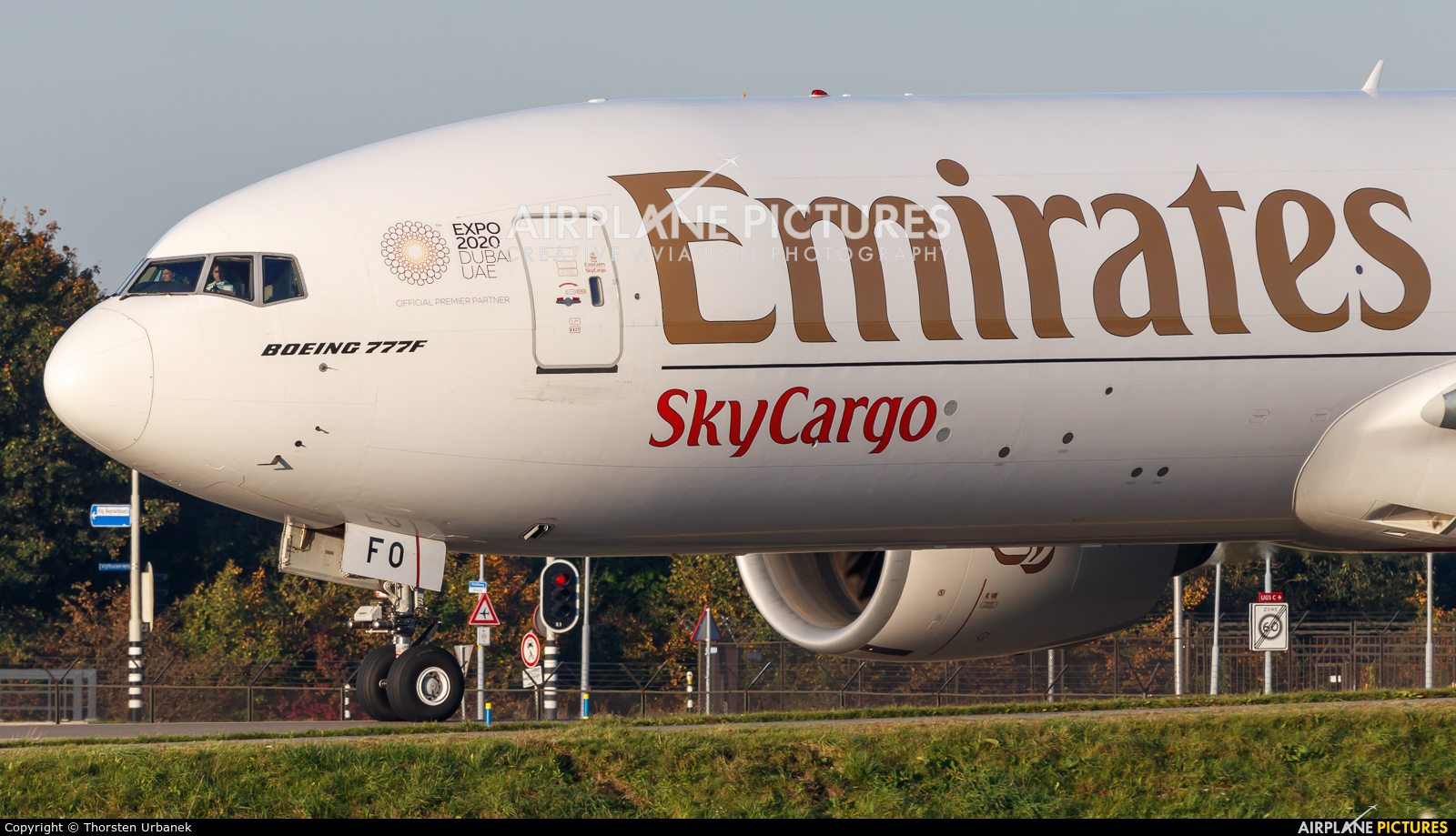 Emirates Sky Cargo A6-EFO aircraft at Amsterdam - Schiphol