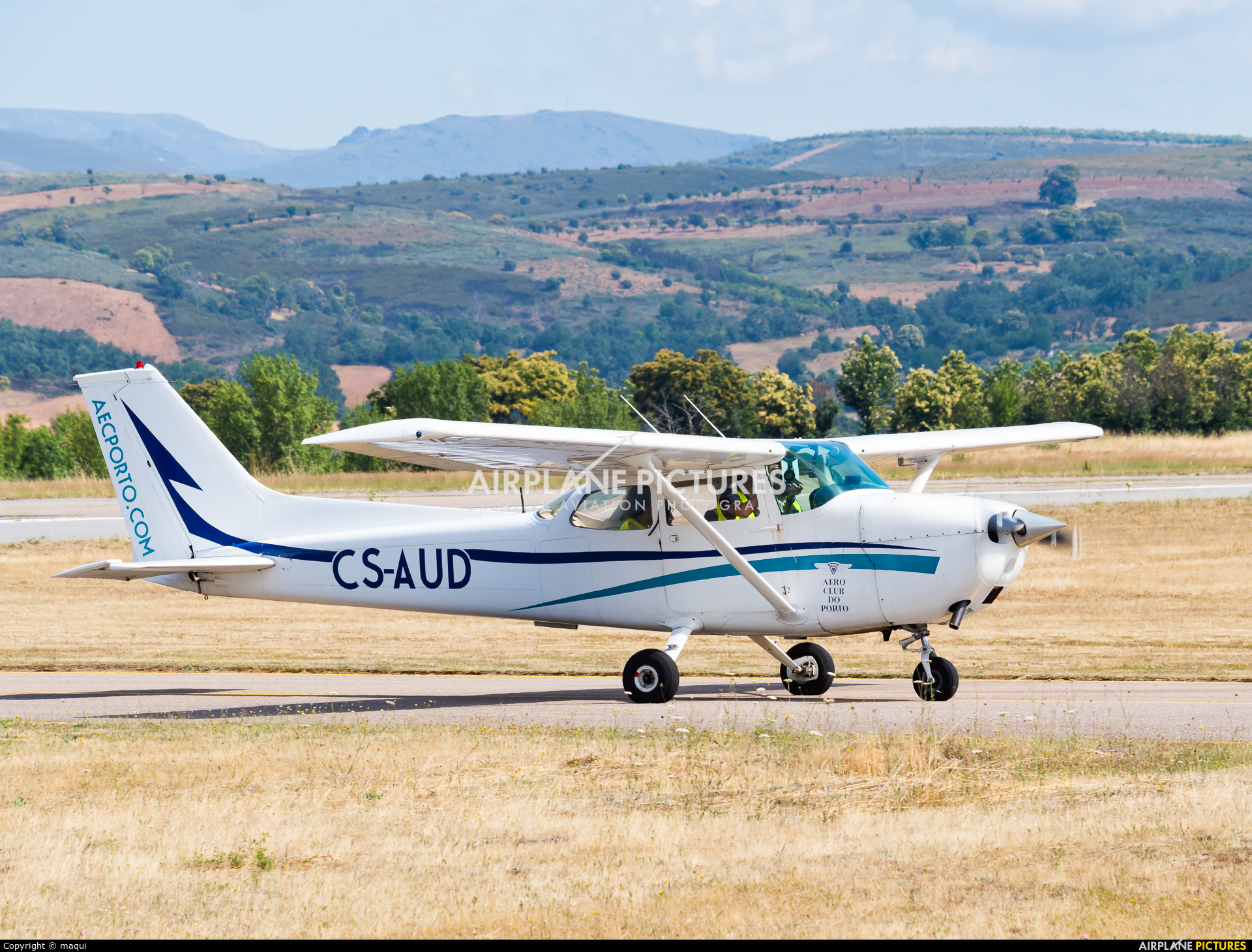 Aero Club do Porto CS-AUD aircraft at Bragança
