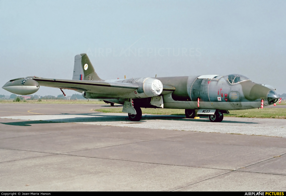 Royal Air Force WE113 aircraft at St Truiden/Bruste