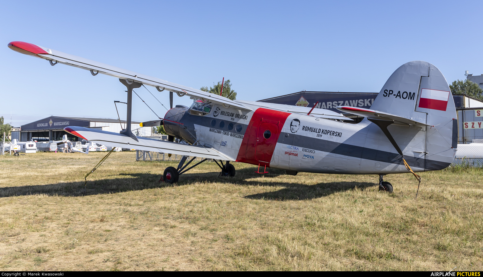 Aeroklub Dolnosląski SP-AOM aircraft at Warsaw - Babice