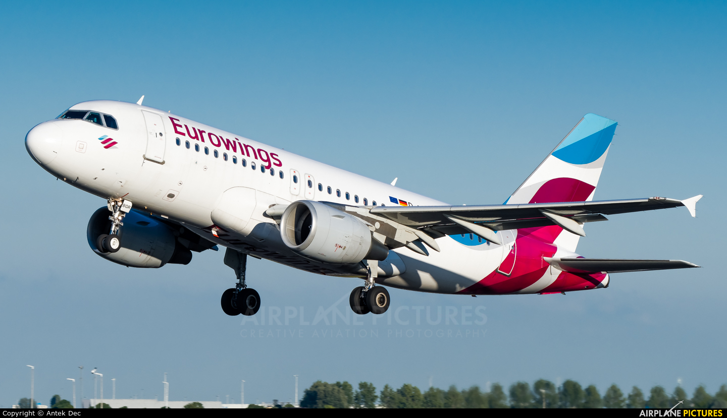 Eurowings D-ABGR aircraft at Amsterdam - Schiphol