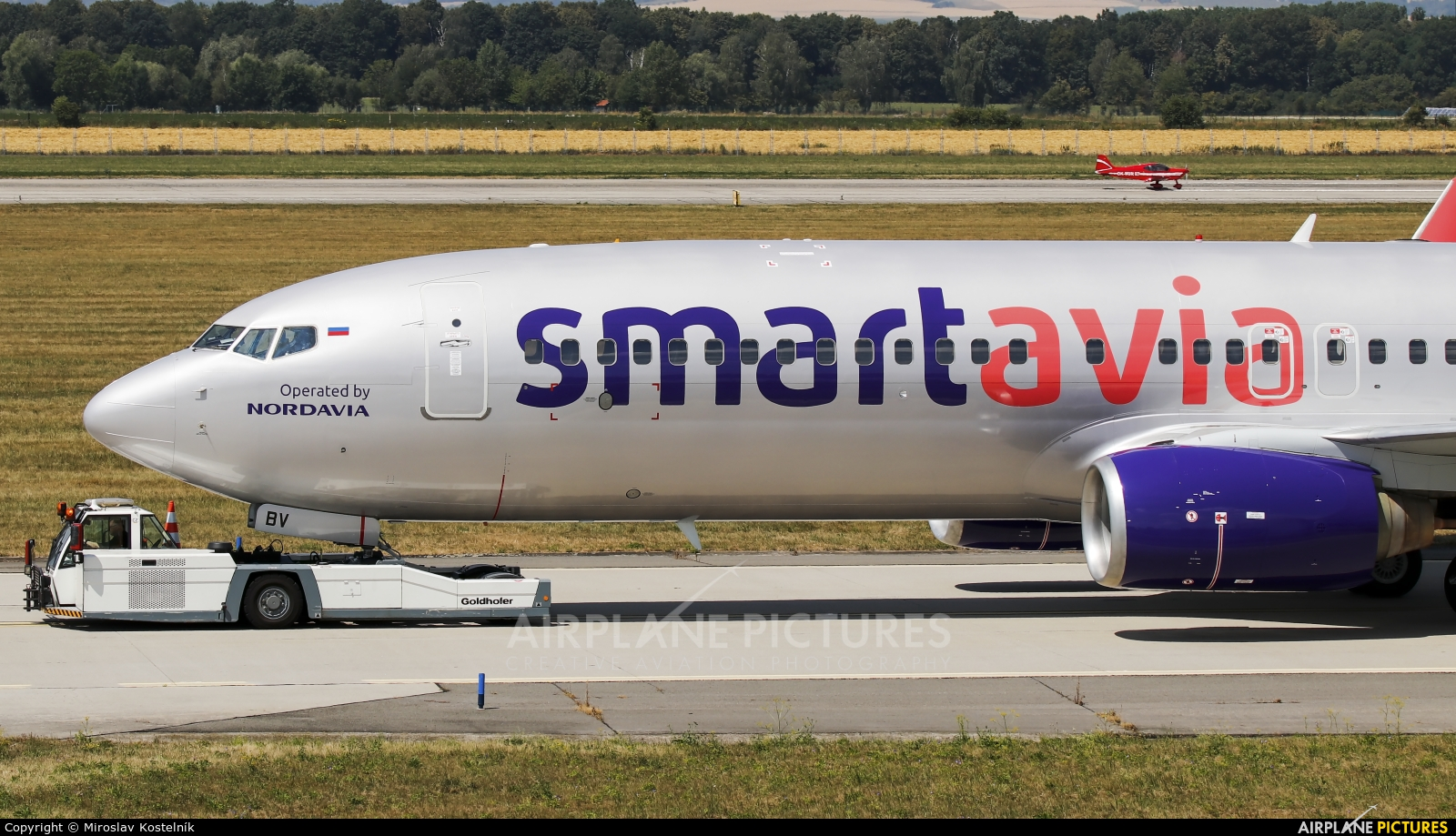 Smartavia VQ-BBV aircraft at Ostrava Mošnov