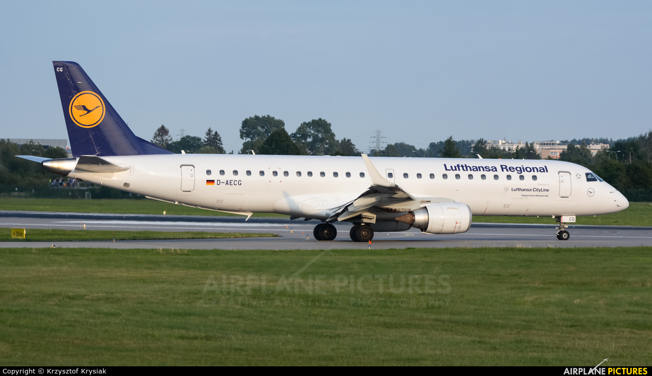 Lufthansa Regional - CityLine D-AECG aircraft at Gdańsk - Lech Wałęsa
