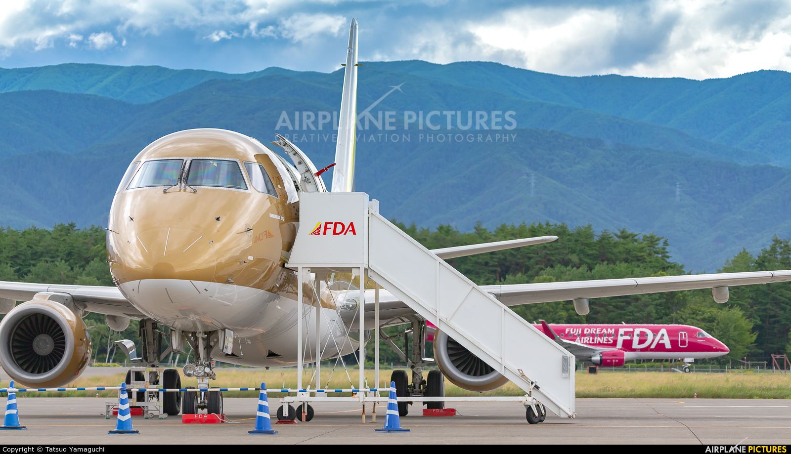 Fuji Dream Airlines JA09FJ aircraft at Shinshu - Matsumoto