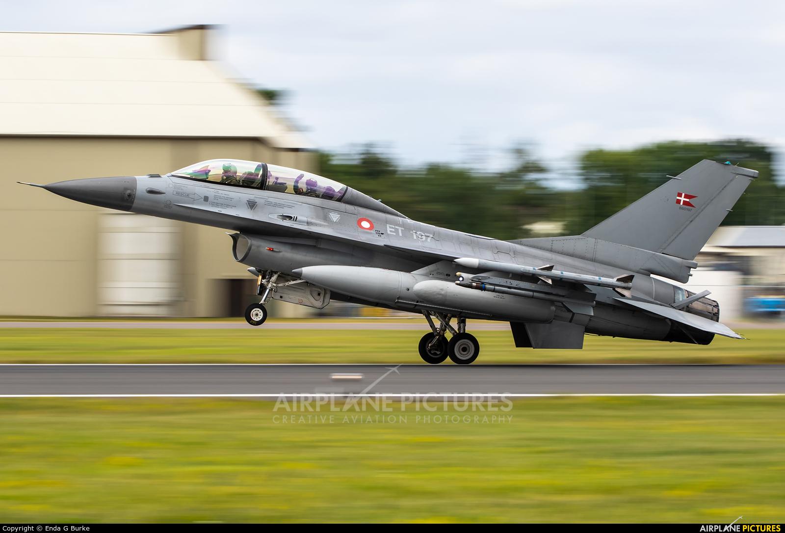 Denmark - Air Force ET-197 aircraft at Fairford