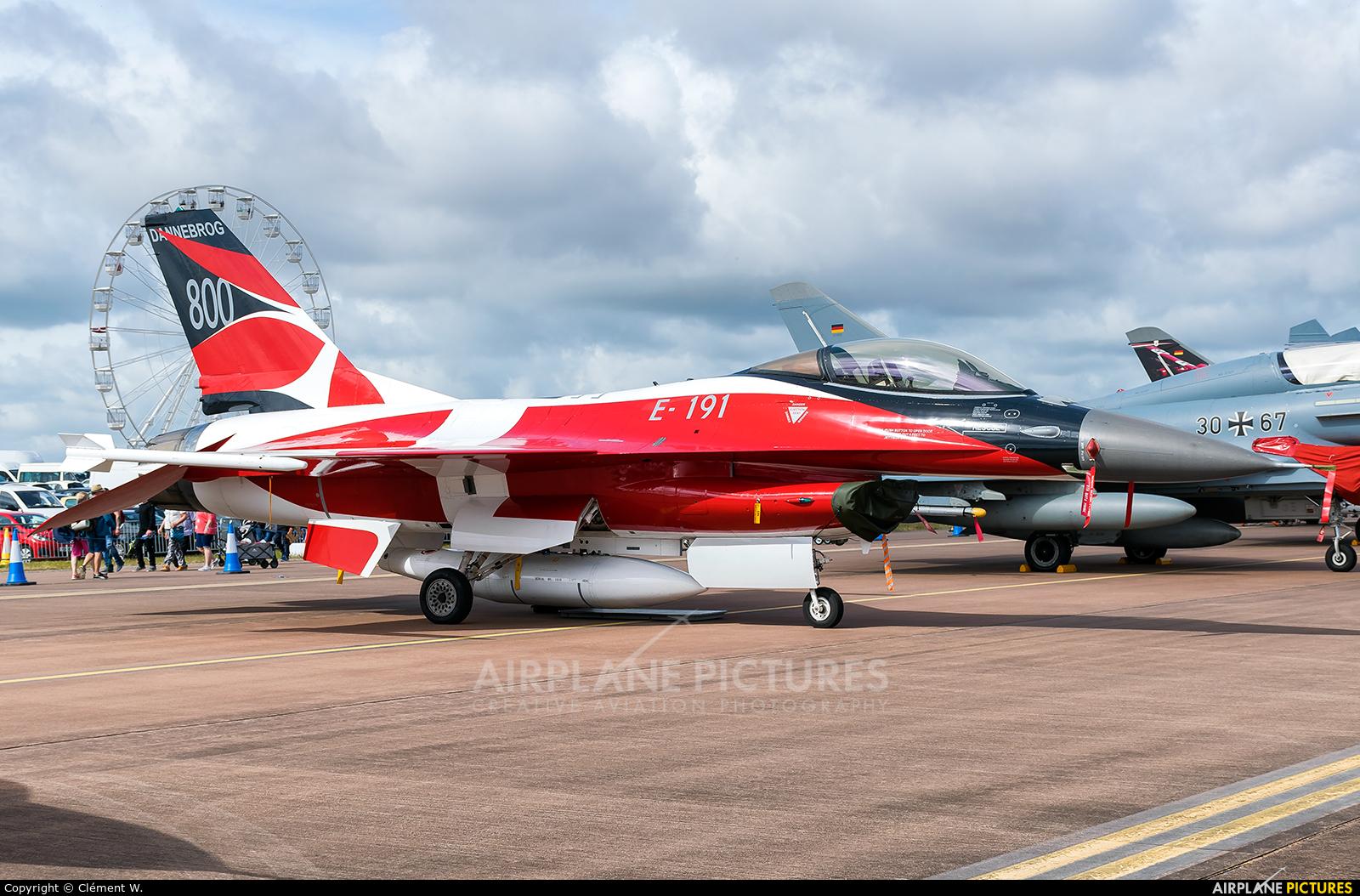 E 191 Denmark Air Force General Dynamics F 16A Fighting