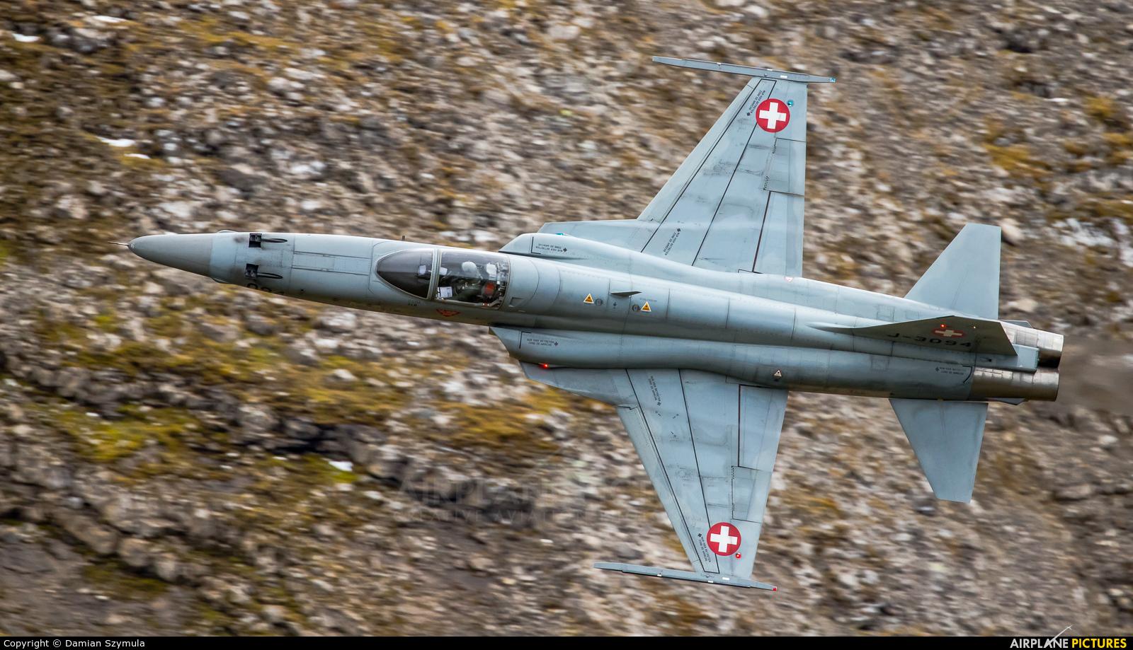 Switzerland - Air Force J-3094 aircraft at Ebenfluhe Range, Axalp
