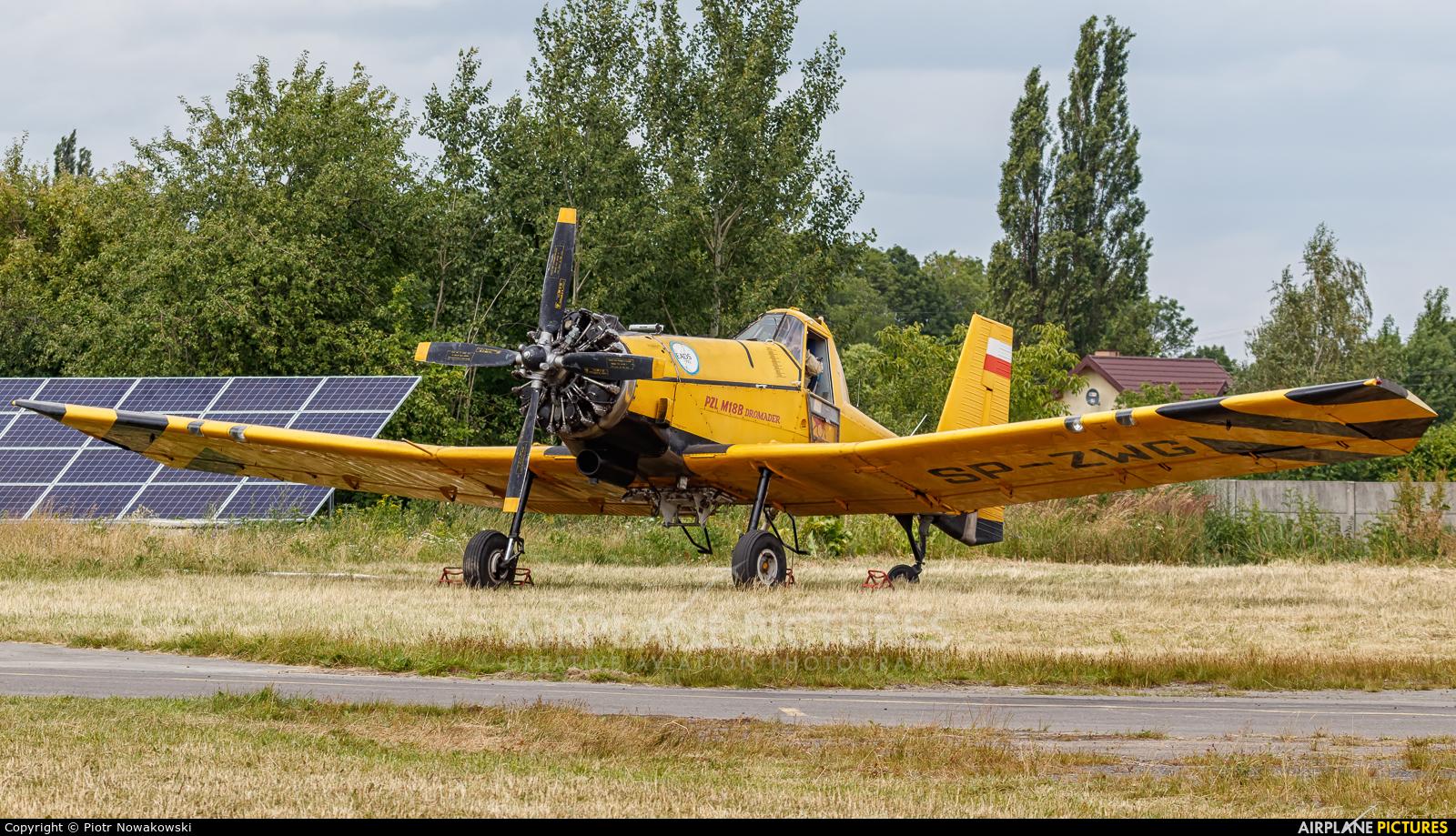 ZUA Mielec SP-ZWG aircraft at Piotrków Trybunalski