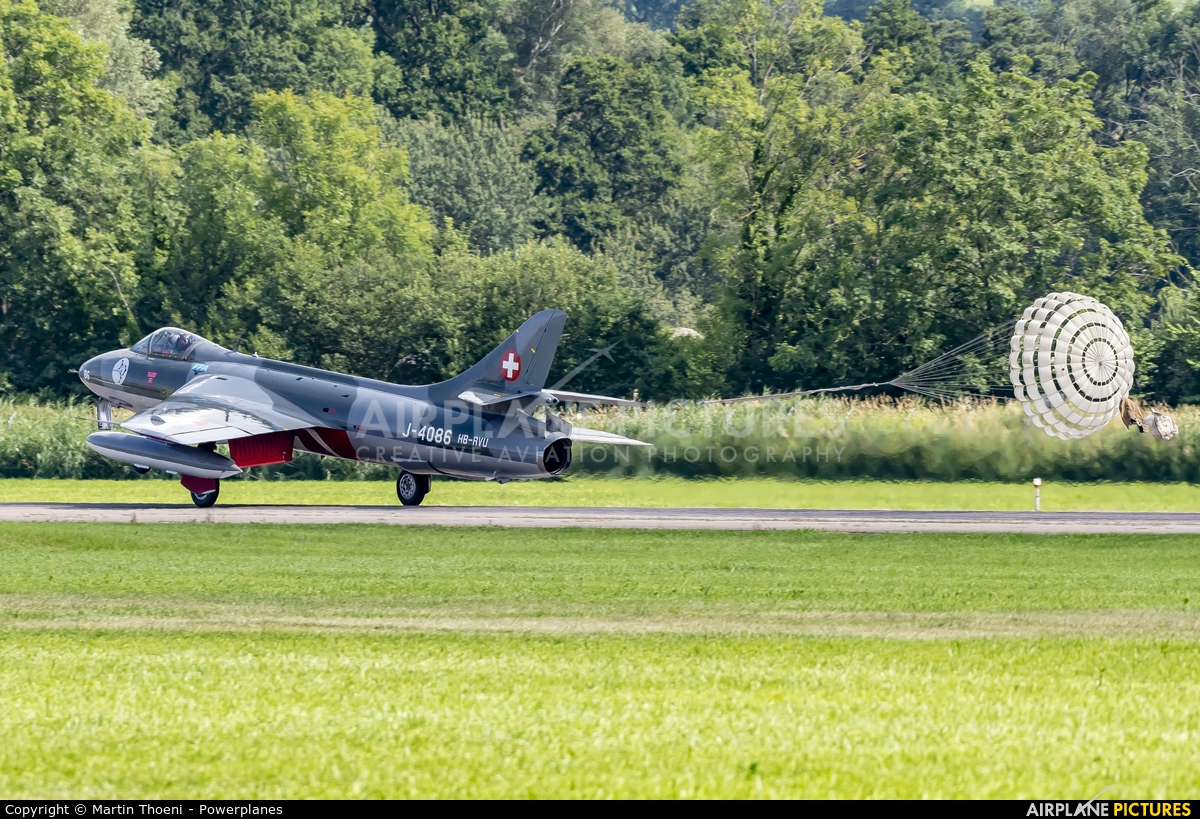 Hunter Flying Club HB-RVU aircraft at St. Gallen - Altenrhein