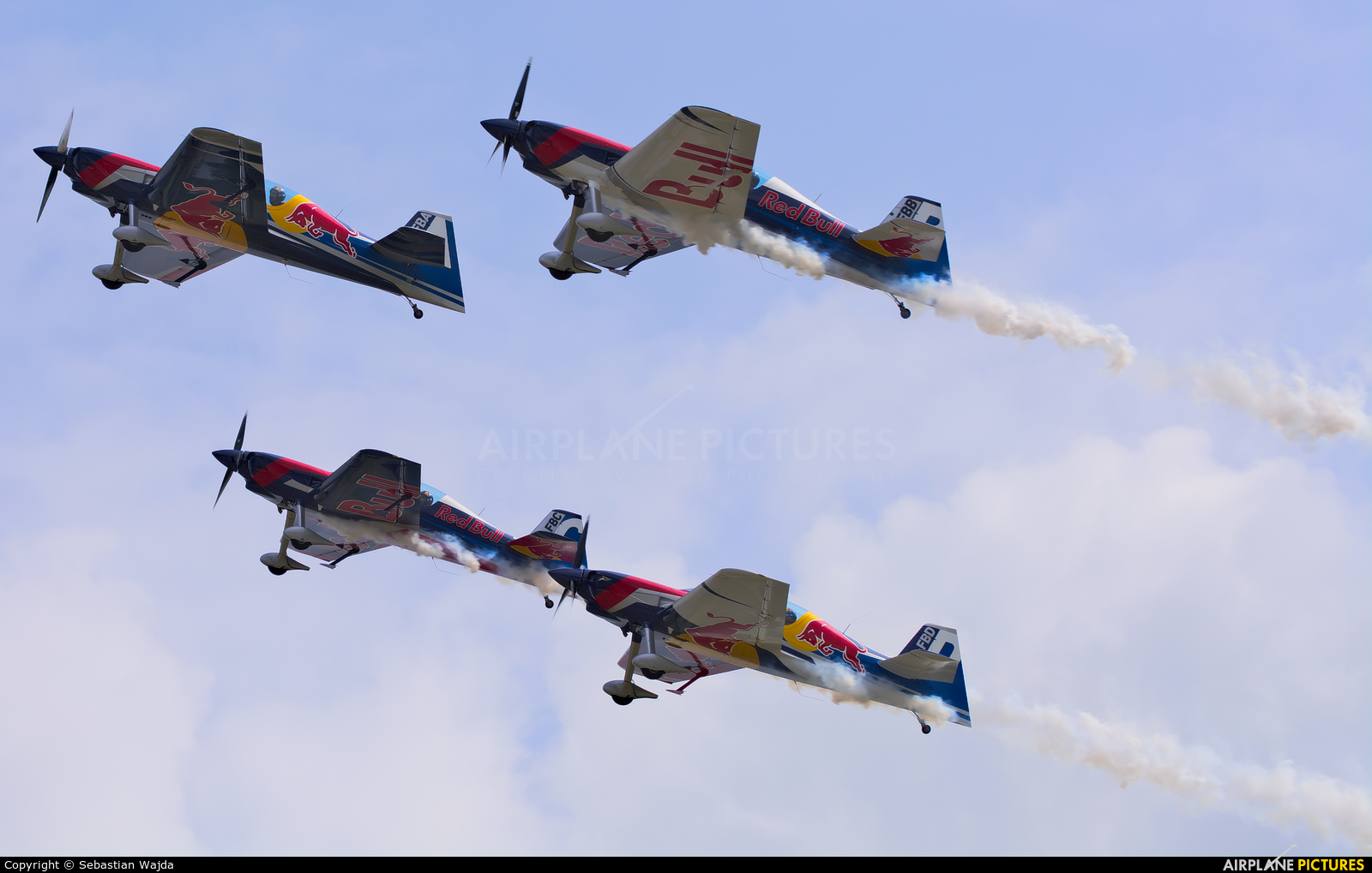 The Flying Bulls : Aerobatics Team OK-FBA aircraft at Płock