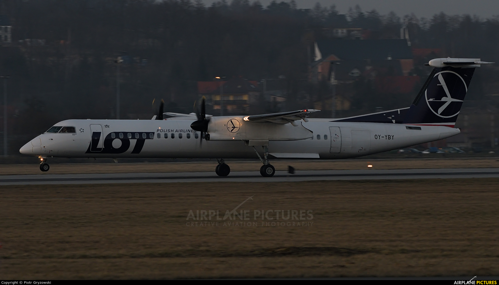 LOT - Polish Airlines OY-YBY aircraft at Kraków - John Paul II Intl