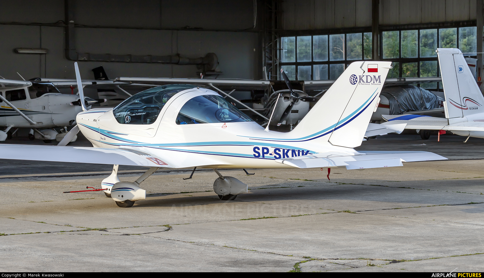 Private SP-SKNK aircraft at Warsaw - Babice