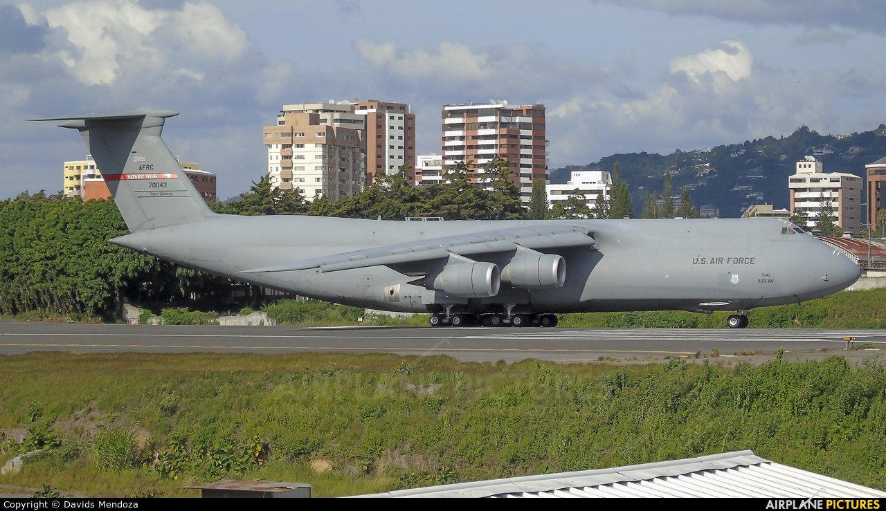 USA - Air Force 87-0043 aircraft at Guatemala - La Aurora