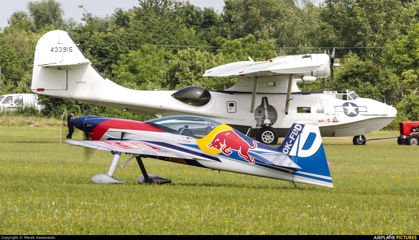 The Flying Bulls Duo : Aerobatics Team OK-FBD aircraft at Płock