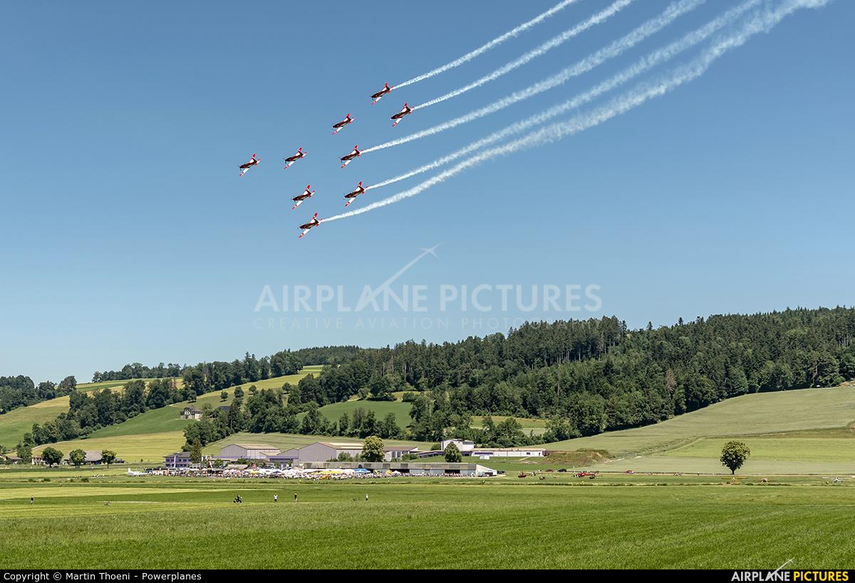 Switzerland - Air Force: PC-7 Team A-940 aircraft at Luzern-Beromünster
