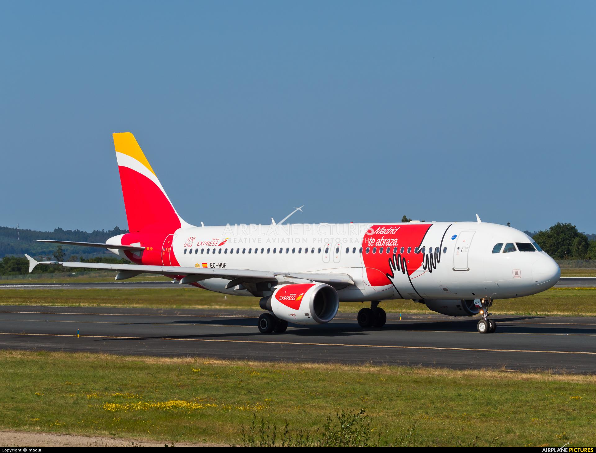 Iberia Express EC-MUF aircraft at Santiago de Compostela