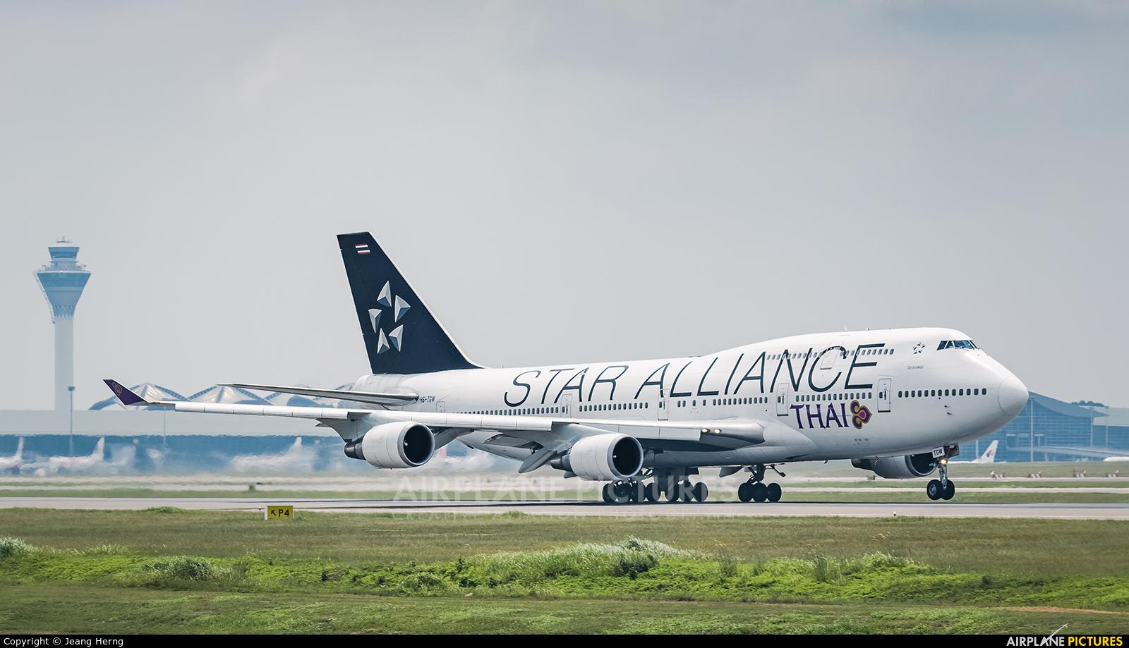 Thai Airways HS-TGW aircraft at Kuala Lumpur Intl