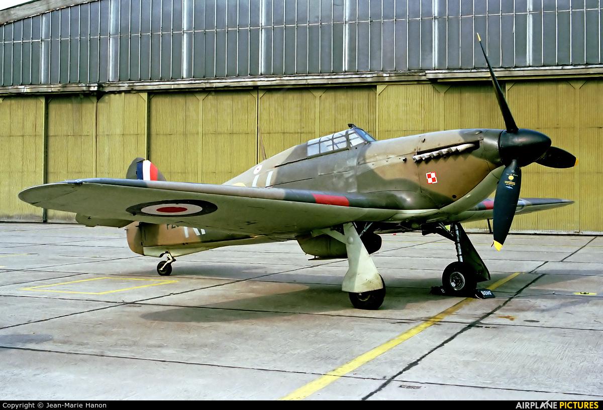"Royal Air Force ""Battle of Britain Memorial Flight&quot PZ865 aircraft at St Truiden/Bruste"