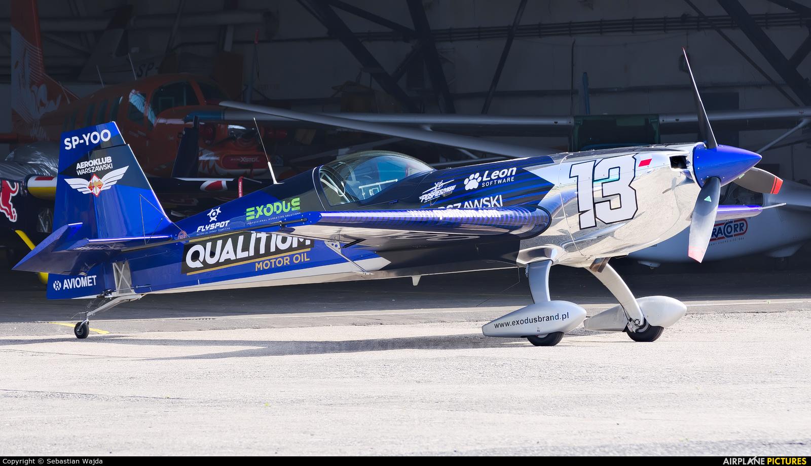 Maciej Pospieszyński - Aerobatics SP-YOO aircraft at Pruszcz Gdański