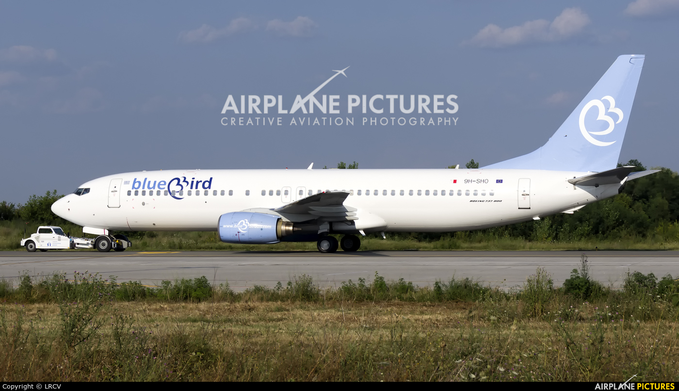 Bluebird Airways 9H-SHO aircraft at Craiova