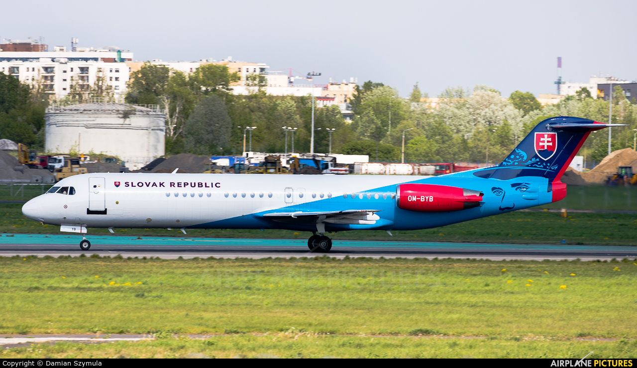 Slovakia - Government OM-BYB aircraft at Warsaw - Frederic Chopin